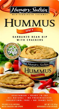 Hungry Sultan Spicy Hummus Snack Meal